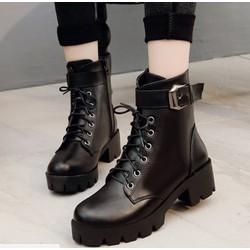 Giày boot combat 4 phân 1 khóa