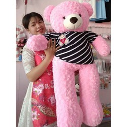 Gấu Bông Teddy 1m2 Lông Hồng
