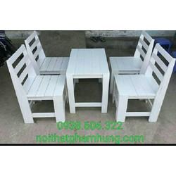 bộ bàn ghế gỗ thanh lý cuối năm
