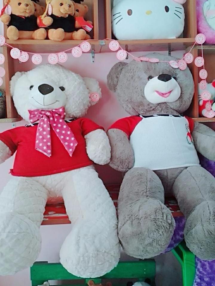 Gấu Bông Teddy Màu Kem 1m2 5