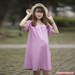 Đầm bầu đẹp thiết kế dáng suông
