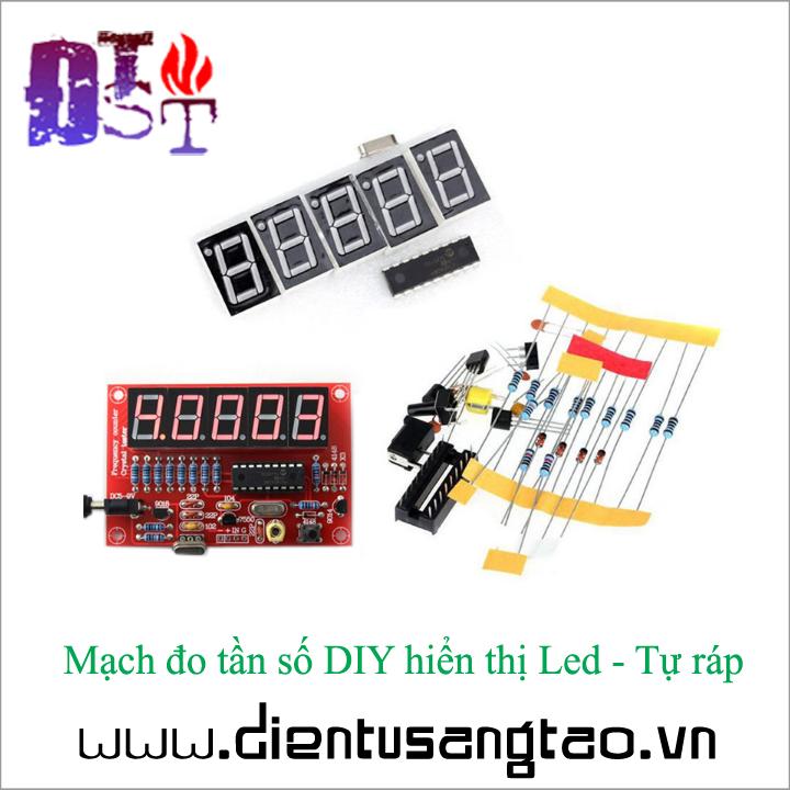 Mạch đo tần số DIY hiển thị Led - Tự ráp 3