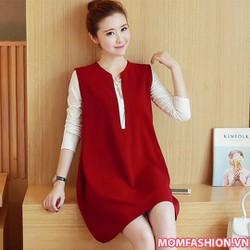 Đầm bầu đẹp thời trang thiết kế phong cách Hàn Quốc