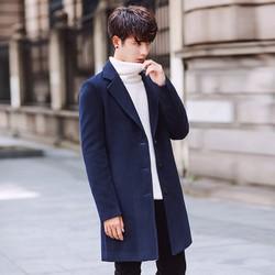 Áo khoác dạ nam dáng dài thời trang 033