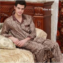 Bộ Pyjama nam dài tay chất lụa cao cấp- giá 400k - NG057