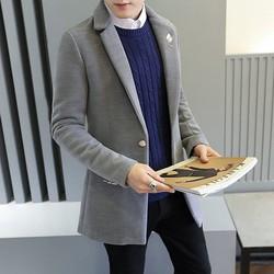 Áo khoác dạ nam dáng Hàn thời trang 0228