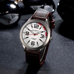Đồng hồ nam dây da phong cách quân đội Gaiety #01