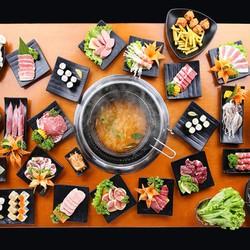 Buffet lẩu và sushi phục vụ tại bàn Free Pepsi Nhà hàng Yaki
