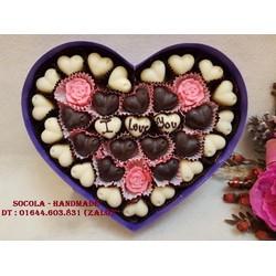 Socola valentine handmade viết chữ theo yêu cầu