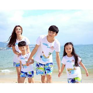 Đồ gia đình đi biển dã ngoại cho gia đình- giá combo 4 bộ gđ - ddgd thumbnail