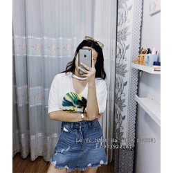 quần váy jean rách