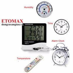 Máy đo độ ẩm nhiệt độ trong nhà và ngoài trời HTC-2