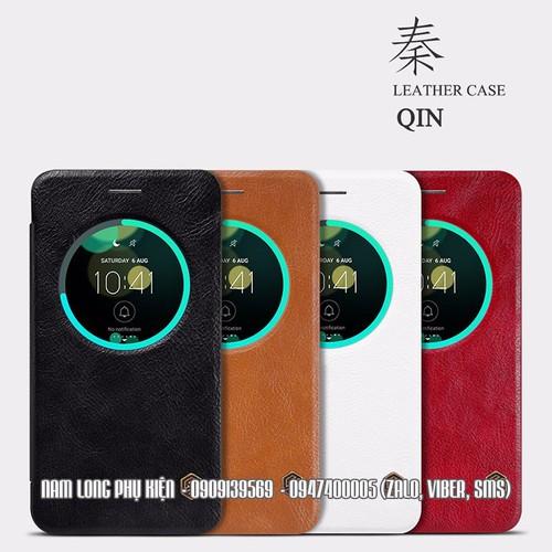 Bao da Zenfone 3 ZE552klhiệuNillkin QINcao cấp Hàng chính hãng