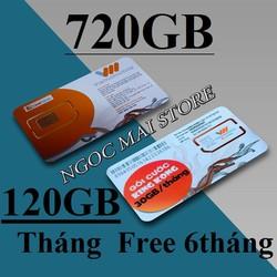 Thánh Sim 3G Vietnamobile Maxdata 6 tháng