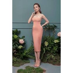 Đầm ôm body kiểu hai dây cúp ngực