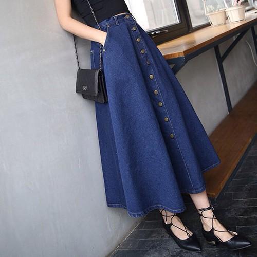 Chân váy nữ jean dài CV0415