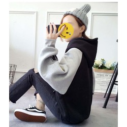 áo hoodie phối màu archetypic Mã: AX3442 - ĐEN