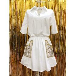 Áo váy hoạ tiết Vintage