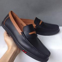Giày nam đế cao kiểu mọi thể thao màu đen