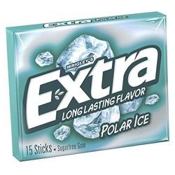 Kẹo cao su Wrigley Extra Polar Ice Gum, 15 miếng
