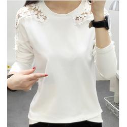 Áo thun trắng dài tay ren