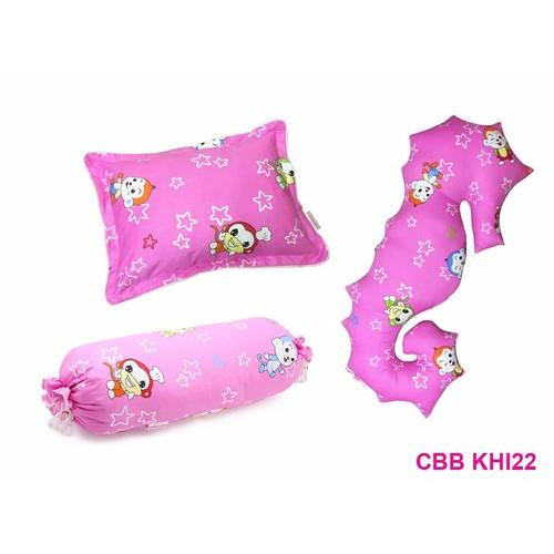 Combo 3 sp: Gối ngủ cho bé + gối ôm + gối ôm cá ngựa berry CBB KHI22