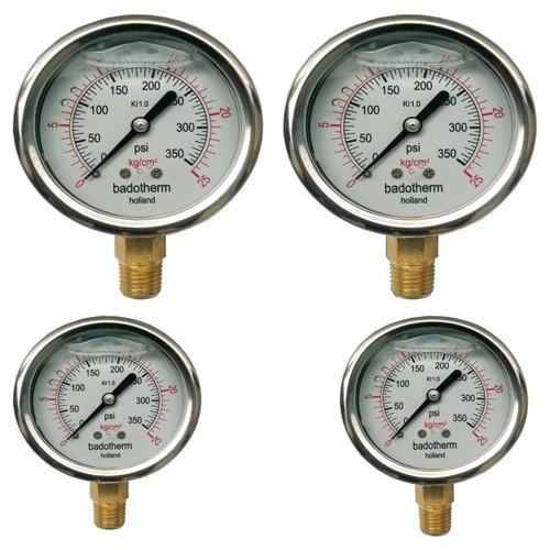 Đồng hồ đo áp suất có dầu 25 Kg
