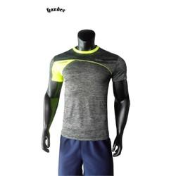 Áo thể thao nam sport Handee xám sọc phối hông neon