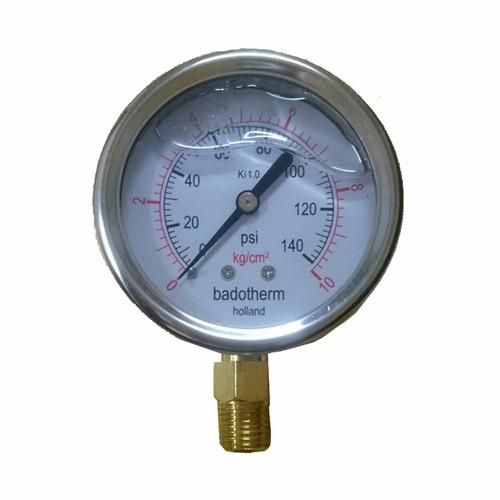 Đồng hồ đo áp suất có dầu 10 Kg