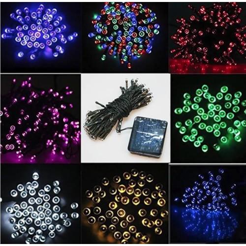 Worldmart đèn led trang trí 22m 200 bóng, đèn trang trí năng lượng mặt trời