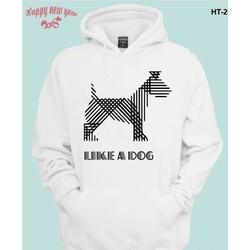 Áo khoác Hoodie like a dog nam nữ đều có size