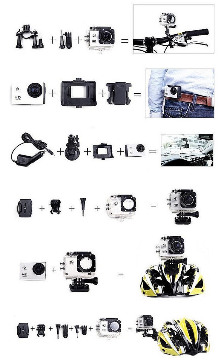 Camera hành trình, hành động Sport cam Wifi 4K ULTRA HD chống rung 31