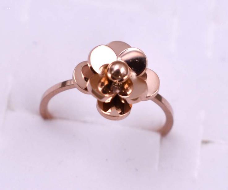 Nhẫn Hoa Trà Titan Không Đen TT 0984 2