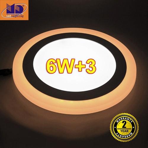 Đèn LED ốp trần viền màu