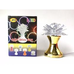 Đèn Led MB hoa sen cầu xoay nhiều màu