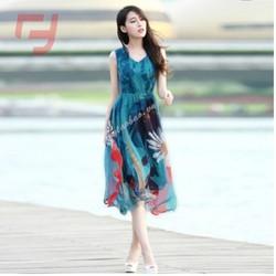 Đầm maxi phối hoa fashion