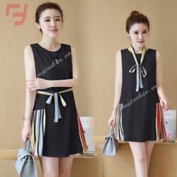Đầm suông phối nơ fashion