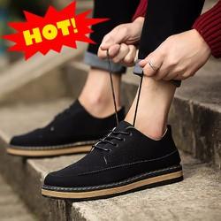 giày sneaker da lộn trẻ trung GLK138