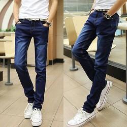 Quần Jeans Ống Suông Ko Co Giãn cotton