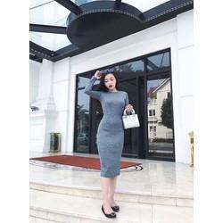 Đầm body len xẻ cao cấp-DL008