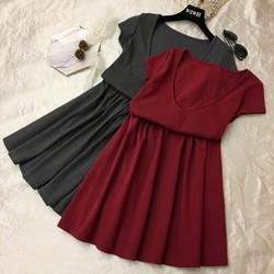 Đầm thun xòe mặc được hai kiểu-shop HOA TRANH-mã HT8