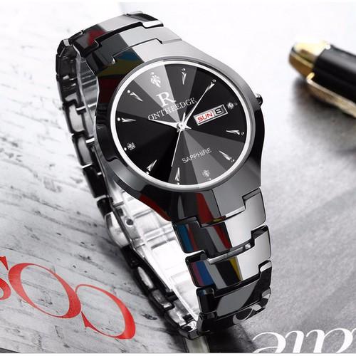 Đồng hồ Ontheedge kính Sapphire đa giác fullbox