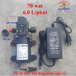 Bộ máy bơm tăng áp 70W 12 volt 6Lit tự động ngắt mới có ren