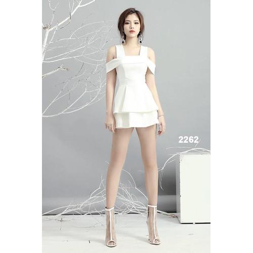 Đầm body hai dây trắng teen dễ thương