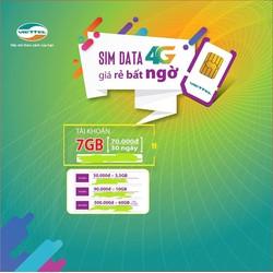Sim 4G Viettel đăng ký được tất cả các gói cước, sim 3G
