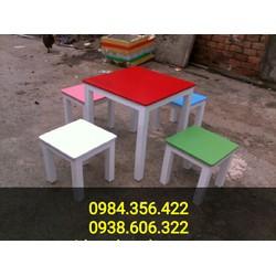 bàn ghế gỗ cóc cafe nhiều màu