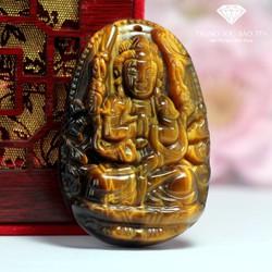 Mặt Dây Chuyền Phật Thiên Thủ Thiên Nhãn Đá Mắt Hổ Cao Cấp