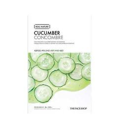 10 tặng 01 Mặt nạ giấy Real Nature Mask Cucumber Dưa Leo TFS - MNTF08
