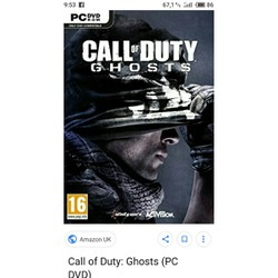 đĩa game pc call of duty ghosts