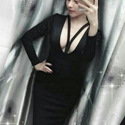 đầm sexy tay dài hở ngực